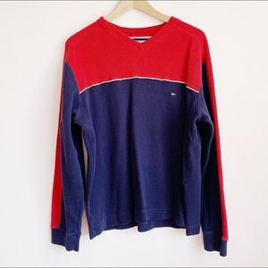 colour block tommy hilfiger pullover from 2002
